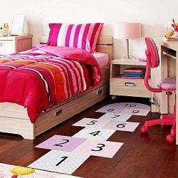 Adhezívny vinylový detský koberec Ambiance Hopscotch Girly