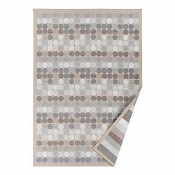 Béžový vzorovaný obojstranný koberec Narma Pallika, 70 × 140 cm