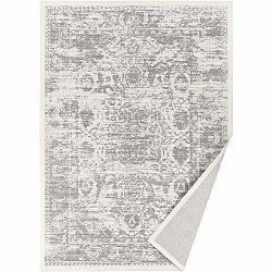 Béžový vzorovaný obojstranný koberec Narma Palmse, 140 × 200 cm