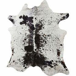 Bielo-hnedý koberec z hovädzej kože Kare Design Hide, 190x150cm