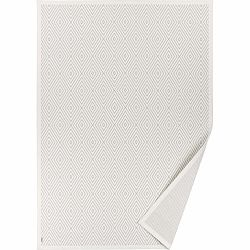 Biely vzorovaný obojstranný koberec Narma Kalana, 70 × 140 cm