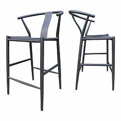 Čierna barová stolička Canett Alto