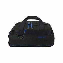 Čierna taška s modrými detailmi Blue Star Murcie, 34 litrov