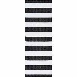 Čierno-biely behúň vhodný do exteriéru Narma Birkas, 70 × 250 cm