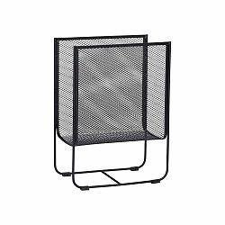 Čierny kovový stojan na časopisy Hübsch Metal
