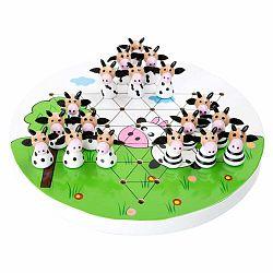 Detská drevená strategická hra Legler Halma Cows