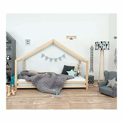 Detská posteľ z lakovaného smrekového dreva Benlemi Sidy, 90 × 160 cm