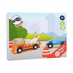 Detský set servisných áut a dopravných značiek Legler Tow