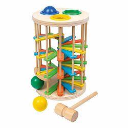 Drevená zatĺkacia guličková hračka Legler Hammer
