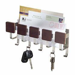 Držiak na kľúče s priehradkou na listy InterDesign Fombu
