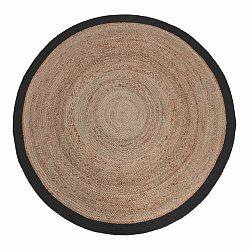 Jutový koberec s čiernym okrajom LABEL51 Rug,⌀ 180 cm