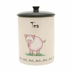 Keramická dóza na čaj z porcelánu Price&Kensington Home Farm, ⌀ 10,5 cm