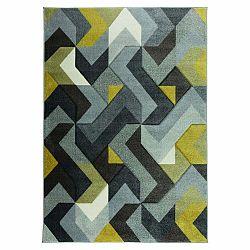 Koberec Flair Rugs Aurora Grey Ochre, 120×170 cm