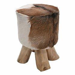 Kožená stolička Kare Design Flint Stone, ⌀35cm