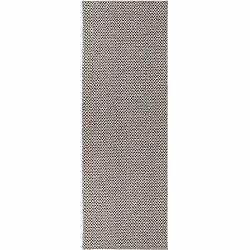 Krémovo-čierny behúň vhodný do exteriéru Narma Diby, 70 × 250 cm