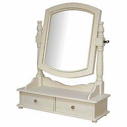 Krémovobiele stolové zrkadlo z topoľového dreva Livin Hill Rimini