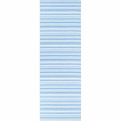 Modro-biely behúň vhodný do exteriéru Narma Hullo, 70 × 300 cm