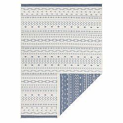 Modro-krémový vonkajší koberec Bougari Kuba, 170 x 120 cm