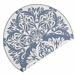 Modro-krémový vonkajší koberec Bougari Madrid, ⌀ 200 cm
