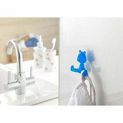 Modrý prísavný držiak v tvare mačičky Compactor