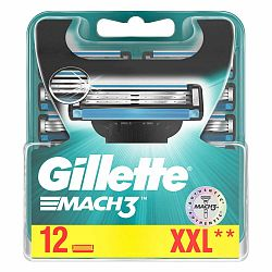 Náhradné hlavice do pánskeho holiaceho strojčeka Gillette Mach3, 12 ks