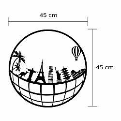 Nástenná kovová dekorácia Cities