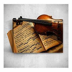 Nástenný 3D obraz Mosticx Musical Notes, 40×60 cm