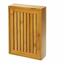Nástenný box z bambusu na kľúče Unimasa , 19 × 27 cm