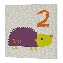 Nástenný obrázok Forest Friends Hedgehog, 27×27 cm
