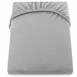 Oceľovosivá elastická bavlnená plachta DecoKing Amber Collection, 200-220×200cm