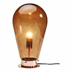 Oranžová stolová lampa Kare Design Bulb