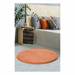 Oranžový koberec Milano, ⌀ 90 cm