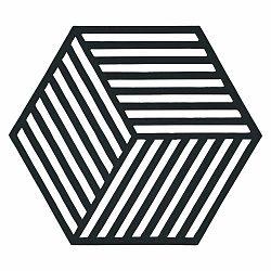 Podložka pod horúce veci Hexagon, čierna