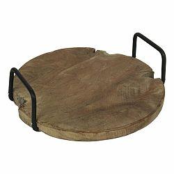 Podnos z teakovového dreva s úchytmi HSM Collection