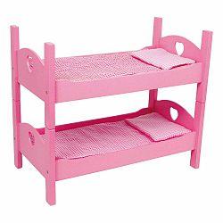 Ružová drevená palanda pre bábiky Legler Dolls