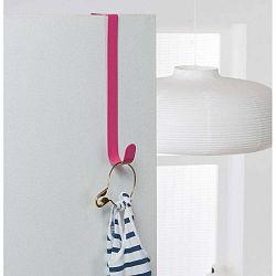 Ružový kovový háčik na dvere Compactor