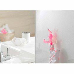 Ružový prísavný háčik v tvare králika Compactor