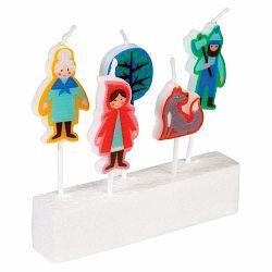Sada 5 sviečok s motívom Červenej Čiapočky Rex London Red Riding Hood