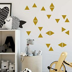 Sada žltých samolepiek na stenu North Carolina Scandinavian Home Decors Triangle
