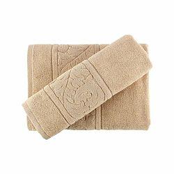 Set béžového bavlneného uteráka a osušky Sultan Beige