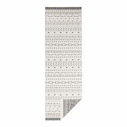 Sivo-krémový vonkajší koberec Bougari Kuba, 250 x 80 cm