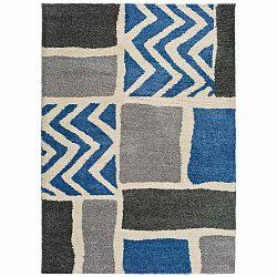 Sivo-modrý koberec vhodný aj do exteriéru Universal Kasbah Grey, 80 x 150 cm