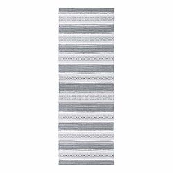 Sivý behúň vhodný do exteriéru Narma Runo, 70 × 350 cm