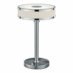 Stolová LED lampa v striebornej farbe Trio Agento, výška 32 cm