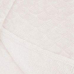 Svetlokrémová deka z mikrovlákna DecoKing Sardi, 70×150cm