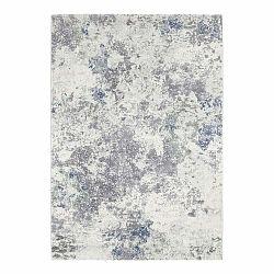 Svetlomodro-krémový koberec Elle Decor Arty Fontaine, 80 × 150 cm