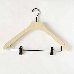 Svetložltý drevený vešiak s 2 klipsami Compactor Hang&Keep