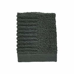 Tmavozelený uterák zo 100% bavlny na tvár Zone Classic Pine Green, 30×30 cm