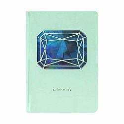 Zápisník A6 Portico Designs Safír, 124 strán