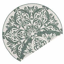Zeleno-krémový vonkajší koberec Bougari Madrid, ⌀ 140 cm